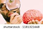 adult nerd man wearing... | Shutterstock . vector #1181321668