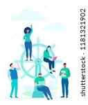 business management   flat... | Shutterstock .eps vector #1181321902