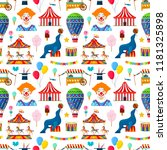 seamless pattern with circus...   Shutterstock .eps vector #1181325898