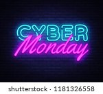 cyber monday concept banner in... | Shutterstock .eps vector #1181326558