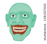 creepy face having horrible... | Shutterstock .eps vector #1181327632
