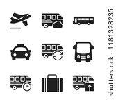 voyage icon. 9 voyage vector... | Shutterstock .eps vector #1181328235