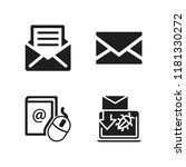 send icon. 4 send vector icons...   Shutterstock .eps vector #1181330272