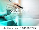 quality assurance. control and... | Shutterstock . vector #1181330725