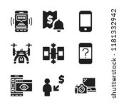 wireless icon. 9 wireless...   Shutterstock .eps vector #1181332942
