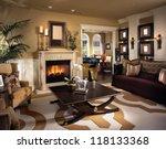 beautiful living room... | Shutterstock . vector #118133368