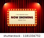 cinema theater retro sign on... | Shutterstock .eps vector #1181336752