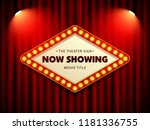 cinema theater retro sign on... | Shutterstock .eps vector #1181336755