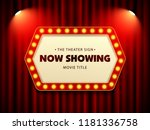 cinema theater retro sign on... | Shutterstock .eps vector #1181336758