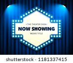cinema theater retro sign on... | Shutterstock .eps vector #1181337415
