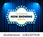 cinema theater retro sign on... | Shutterstock .eps vector #1181337418