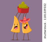 funny nachos character in... | Shutterstock .eps vector #1181339332