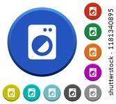 washing machine round color...   Shutterstock .eps vector #1181340895