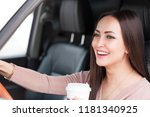 portrait of pretty smiling... | Shutterstock . vector #1181340925