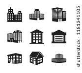 estate icon. 9 estate vector... | Shutterstock .eps vector #1181341105