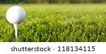 golf game. golf ball in grass. | Shutterstock . vector #118134115