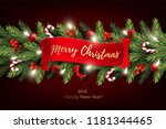 holiday's background for merry... | Shutterstock .eps vector #1181344465
