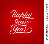 unique lettering happy new year ... | Shutterstock .eps vector #1181344495