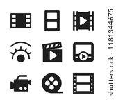 strip icon. 9 strip vector... | Shutterstock .eps vector #1181344675