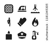 warm icon. 9 warm vector icons...   Shutterstock .eps vector #1181345305