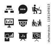discussion icon. 9 discussion... | Shutterstock .eps vector #1181345815