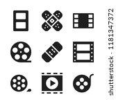 strip icon. 9 strip vector...   Shutterstock .eps vector #1181347372