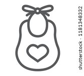 baby bib line icon  child and... | Shutterstock .eps vector #1181348332