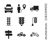 highway icon. 9 highway vector... | Shutterstock .eps vector #1181349052