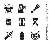 beat icon. 9 beat vector icons... | Shutterstock .eps vector #1181349145