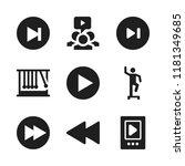 forward icon. 9 forward vector... | Shutterstock .eps vector #1181349685
