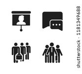 discussion icon. 4 discussion... | Shutterstock .eps vector #1181349688
