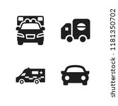 highway icon. 4 highway vector... | Shutterstock .eps vector #1181350702