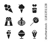flavor icon. 9 flavor vector... | Shutterstock .eps vector #1181351128