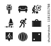 leisure icon. 9 leisure vector... | Shutterstock .eps vector #1181351788
