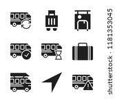 voyage icon. 9 voyage vector... | Shutterstock .eps vector #1181353045