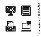 send icon. 4 send vector icons...   Shutterstock .eps vector #1181356588