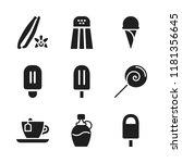 flavor icon. 9 flavor vector... | Shutterstock .eps vector #1181356645