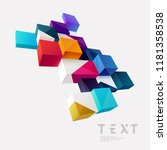 3d composition of colored cubes | Shutterstock .eps vector #1181358538