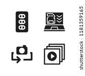 portable icon. 4 portable...   Shutterstock .eps vector #1181359165