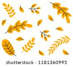 set of colorful autumn leaves... | Shutterstock .eps vector #1181360995