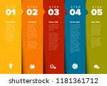 one two three four five  ... | Shutterstock .eps vector #1181361712