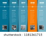 vector infographic company... | Shutterstock .eps vector #1181361715