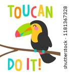 cute toucan cartoon... | Shutterstock .eps vector #1181367328