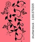 florid floral pattern... | Shutterstock .eps vector #1181370205