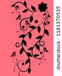 florid floral pattern... | Shutterstock .eps vector #1181370535