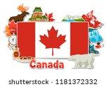 canada sticker background... | Shutterstock .eps vector #1181372332