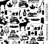 canada seamless pattern.... | Shutterstock .eps vector #1181372365