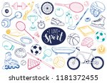 collection of vector sport... | Shutterstock .eps vector #1181372455