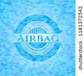 airbag sky blue emblem with... | Shutterstock .eps vector #1181372542