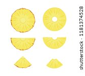 cut slices of ripe yellow... | Shutterstock .eps vector #1181374528